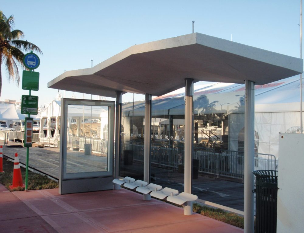 Miami Beach Road Bus Shelters
