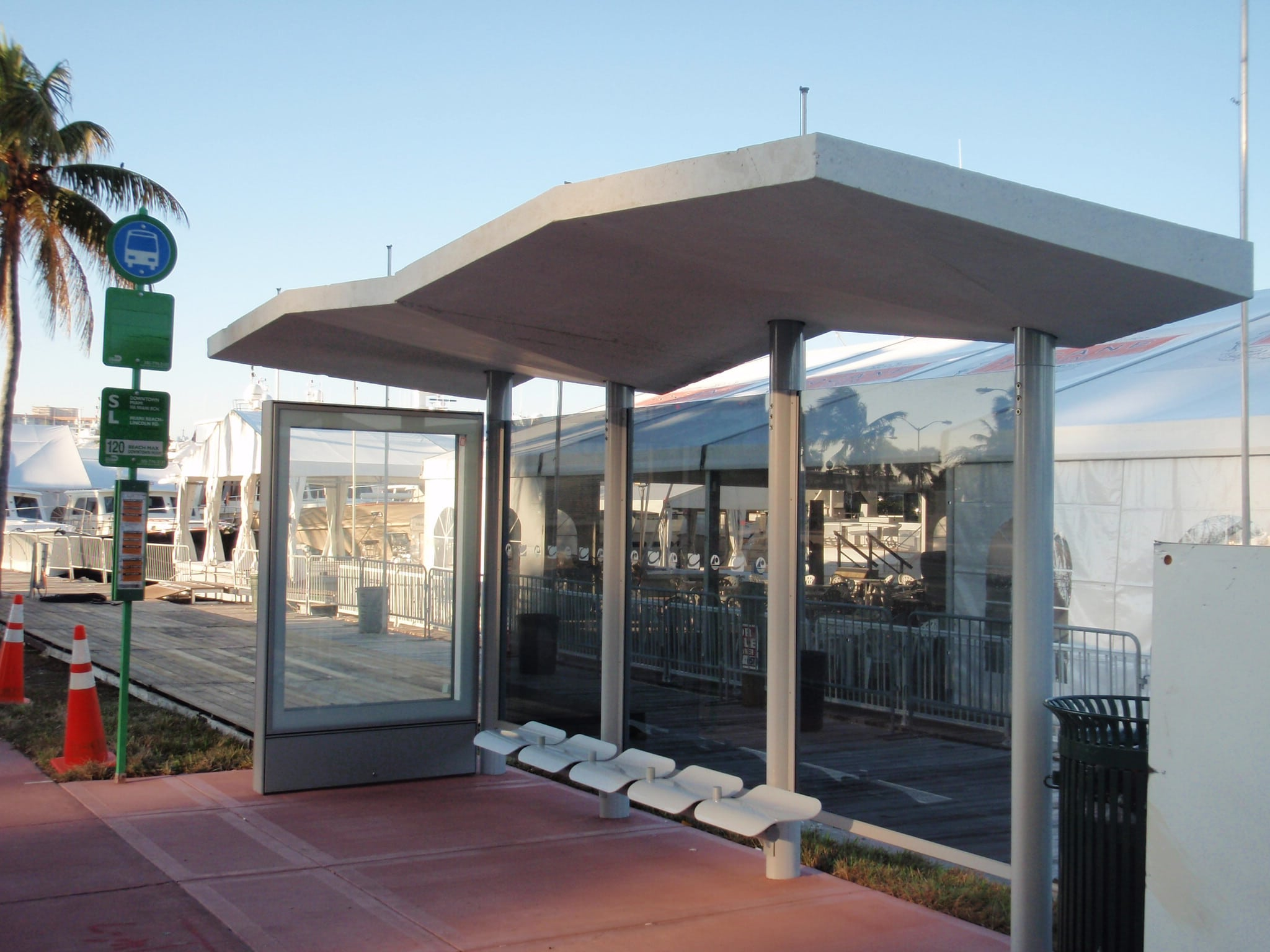 Miami Beach Road Bus Shelters Radius Displays